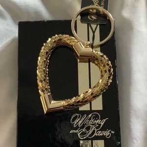 Vintage Whiting & Davis Heart Key Ring